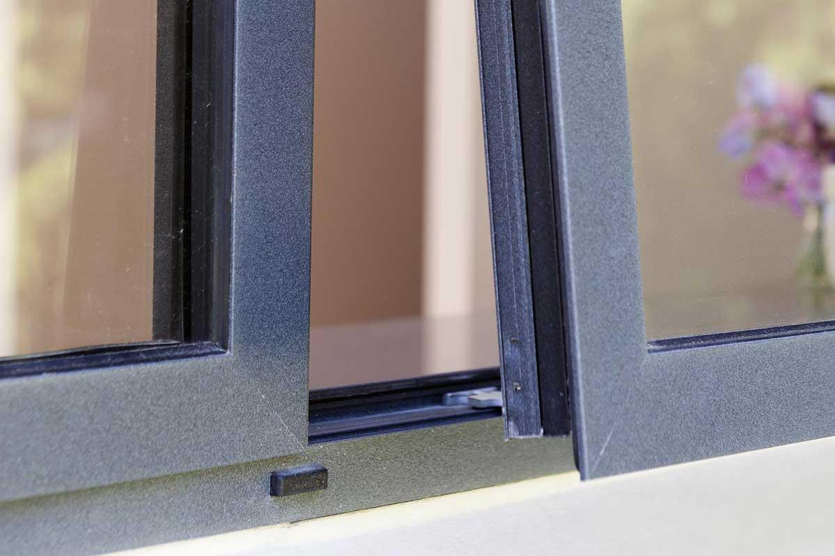 aluminium windows close up open