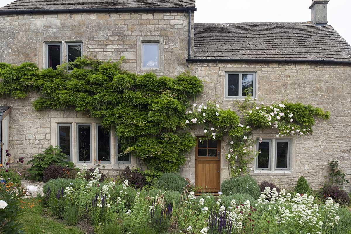 cottage with aluminium windows