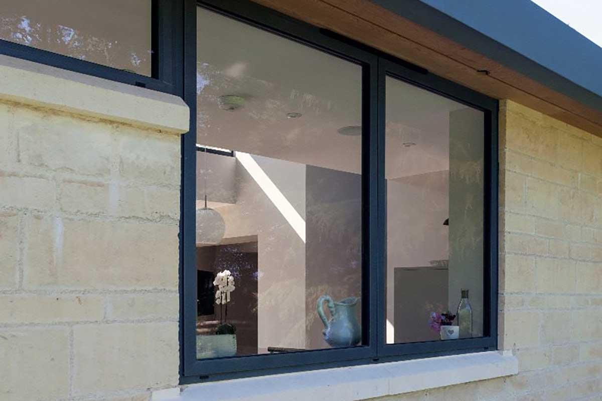 aluminium windows outside