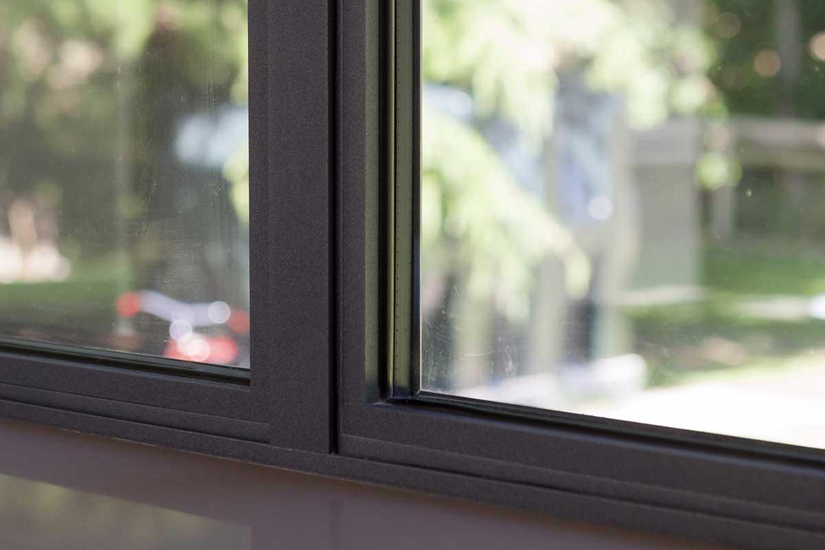 aluminium window close up
