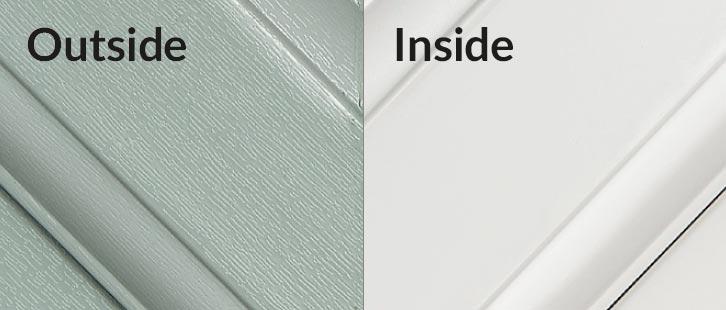 Chartwell Green / white uPVC Frame