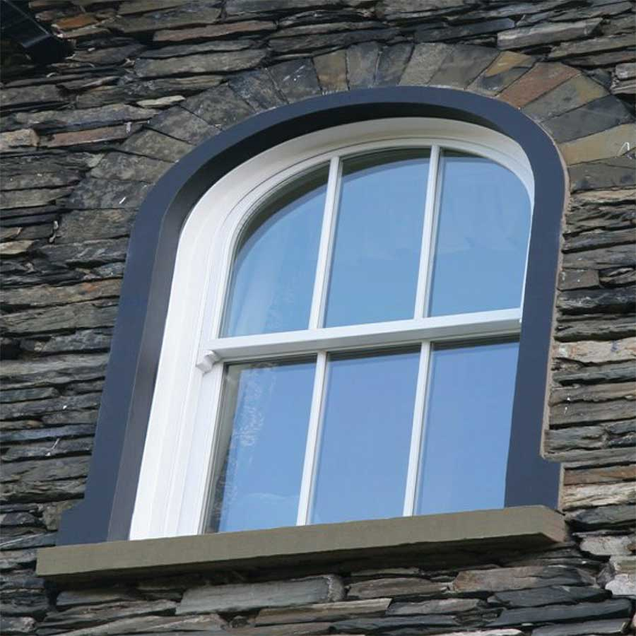 curved vertical sliding window