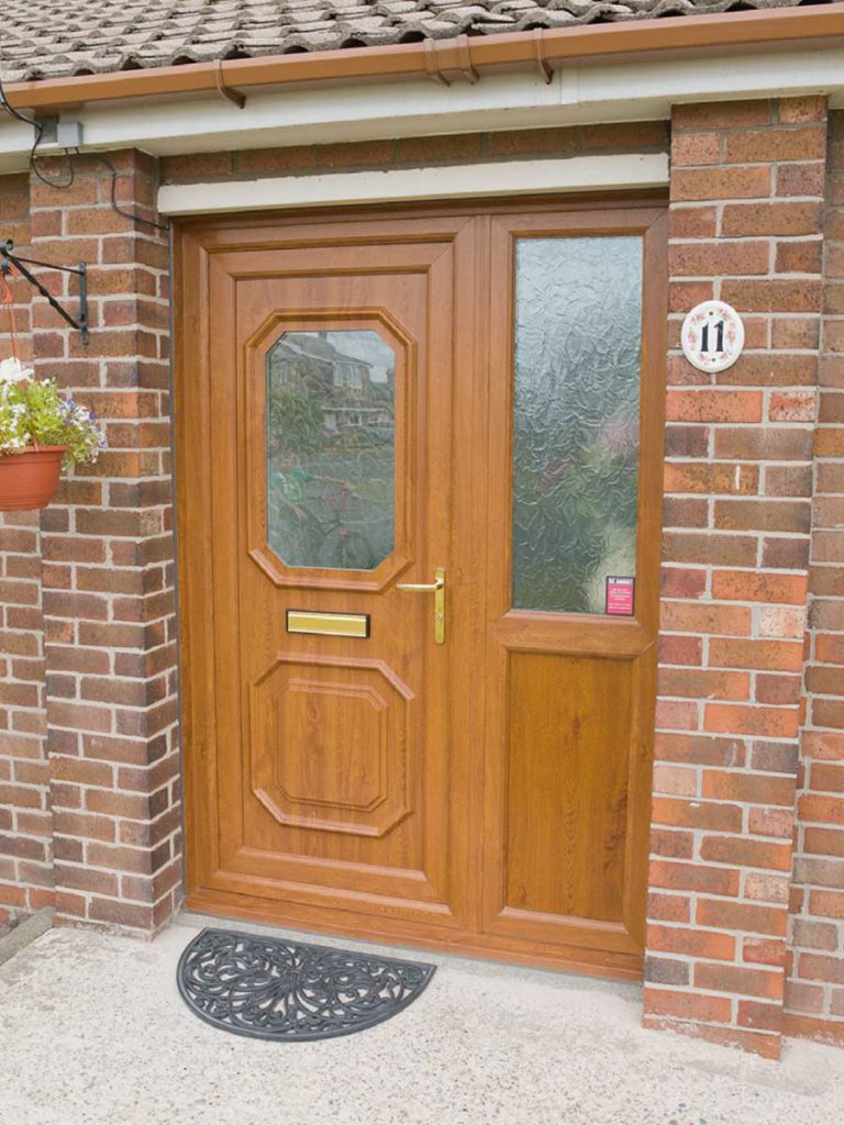 oak coloured pvcu door edgware
