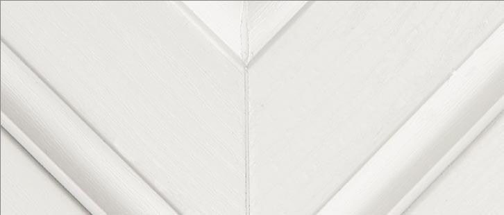 White Woodgrain / White upvc window frame