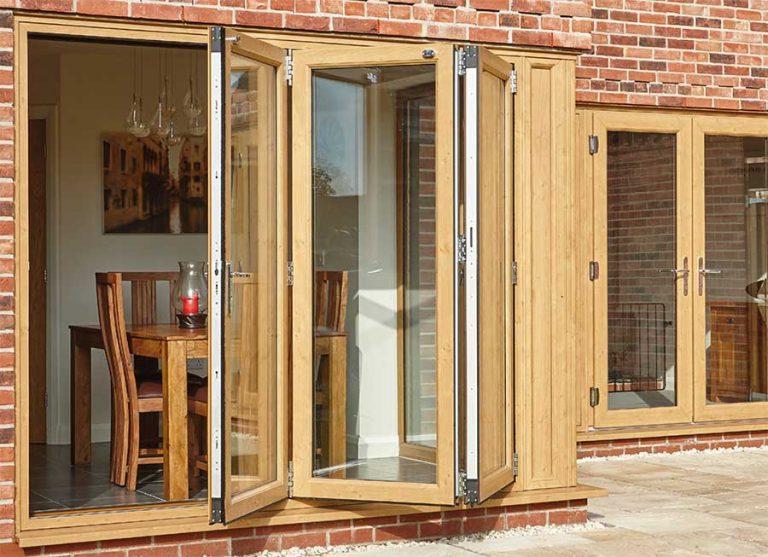 wooden style PVCu Bi Folding Door Edgware